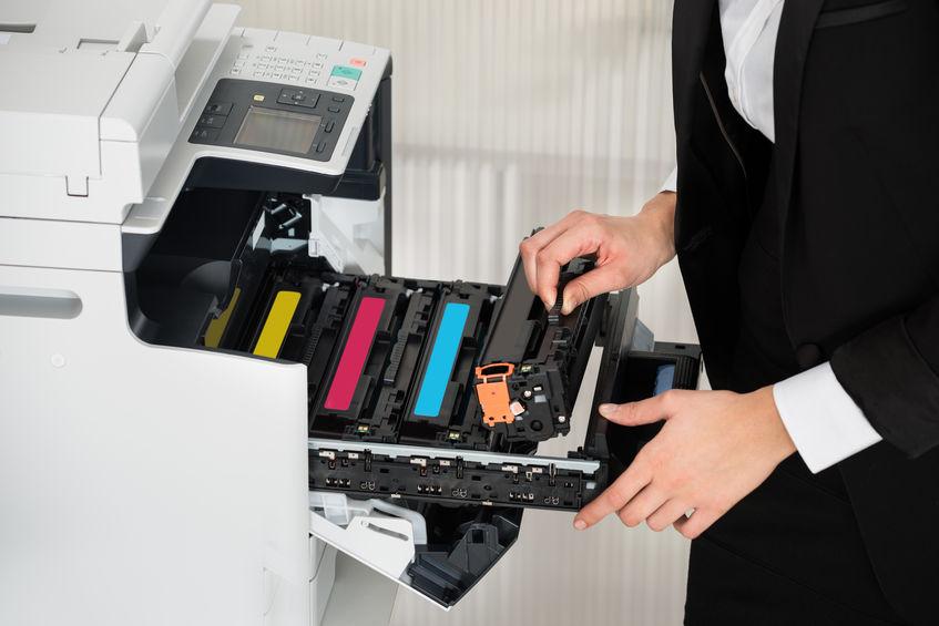 cartouches dans une imprimante