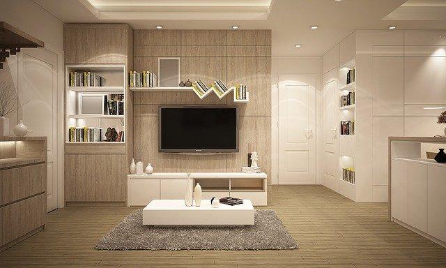 salon avec meubles moderne