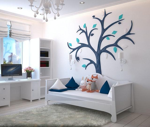 décoration murale en fleur