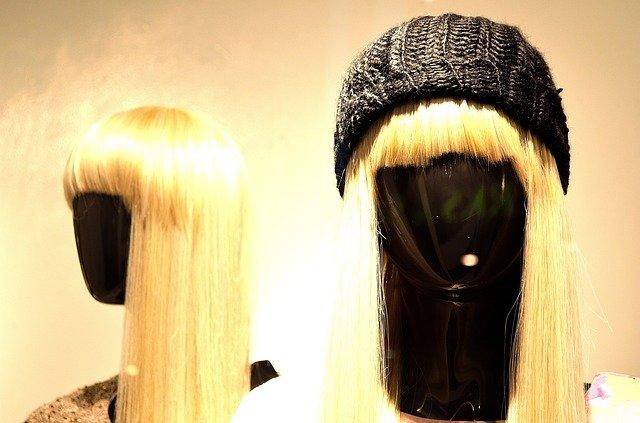 perruque blonde lisse