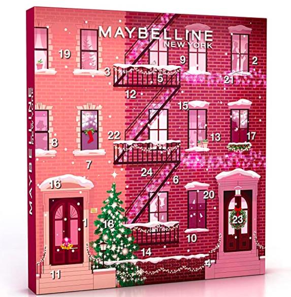 Le calendrier Maybeline ressemble aux calendriers de l'avent aux chocolats