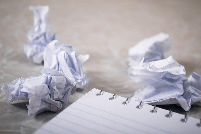 papier froissés