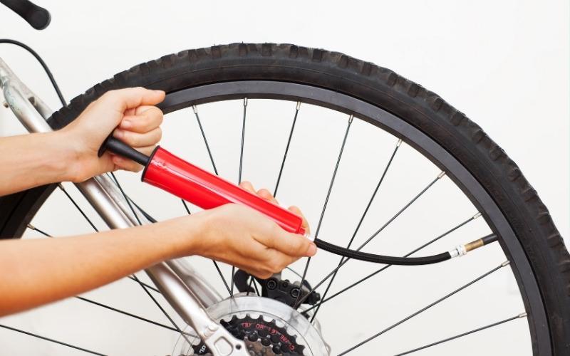pression des pneus sur vtt et vtc